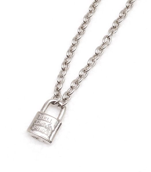 ロゴ南京錠ネックレス