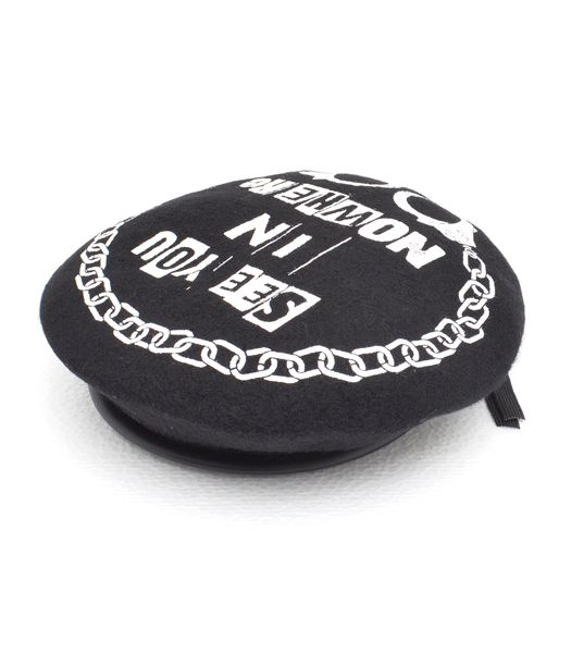 手錠プリントベレー帽