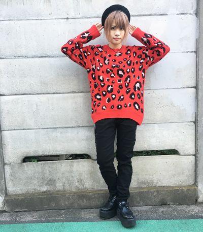 ヒョウ柄セーター