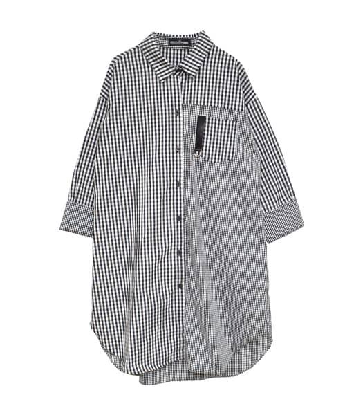 ギンガムチェックシャツワンピース