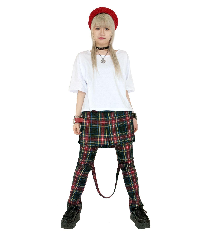 モデル身長162cm/着用カラーWHITE(Tシャツのみ)