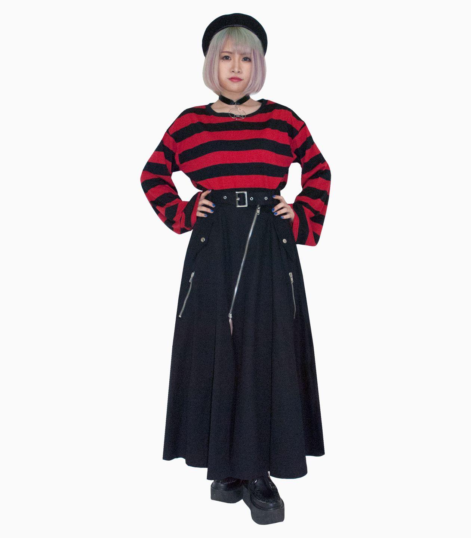 ライダースロングスカート