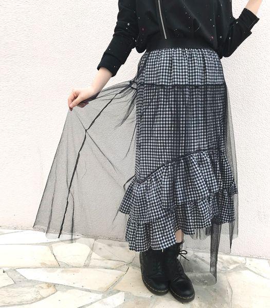 チュールマキシスカート