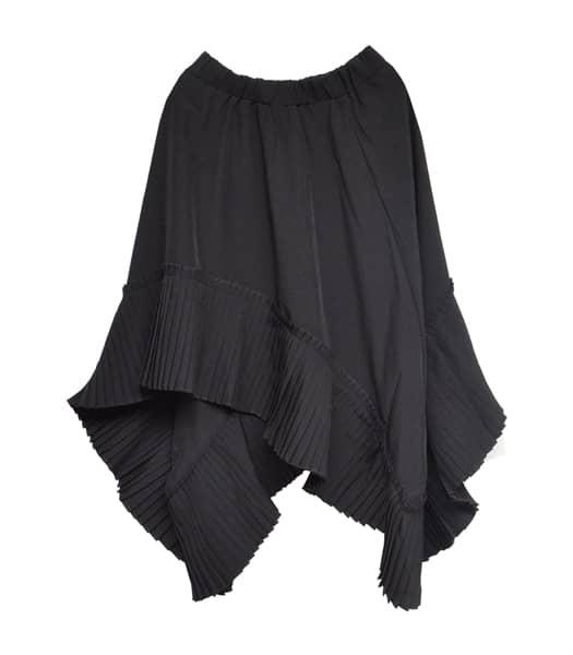 アシメドレープスカート
