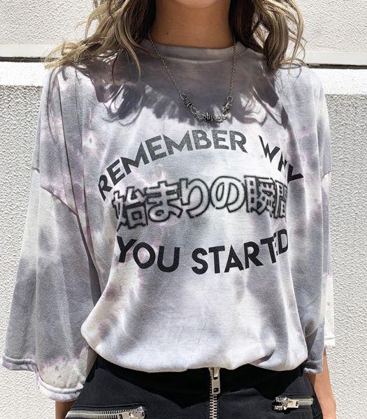 始まりの瞬間 タイダイ染めTシャツ