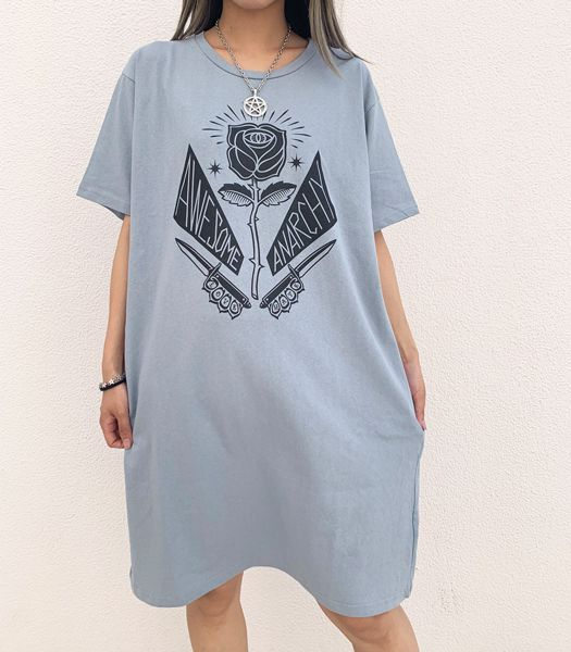 AWESOME ANARCHY BIG Tシャツワンピース