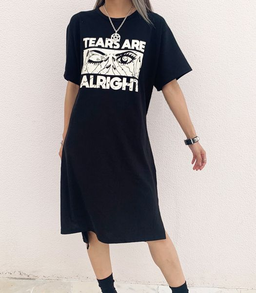 TEARS ARE ALRIGHT BIG Tシャツワンピース