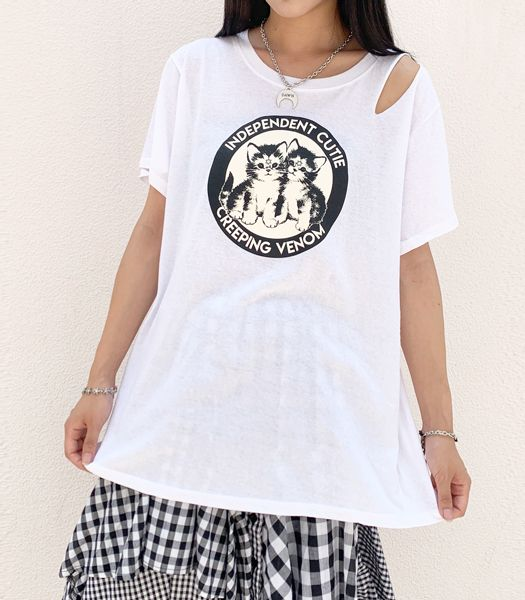 INDEPENDENT CUTIE CREEPING VENOM Tシャツ