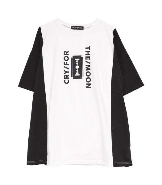 CRY FOR THE MOON 切り替えビッグTシャツ