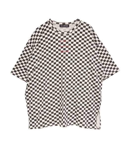 ブロックチェックTシャツ