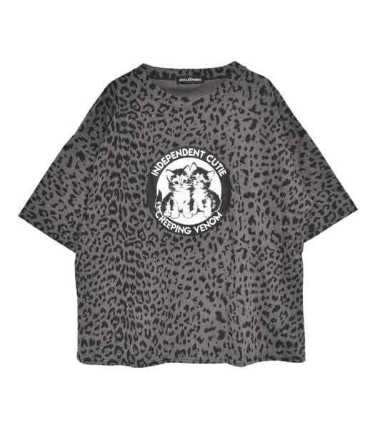ヒョウ柄ビッグTシャツ