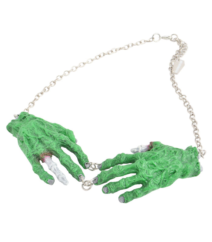 GREEN ZOMBIE HANDS ネックレス