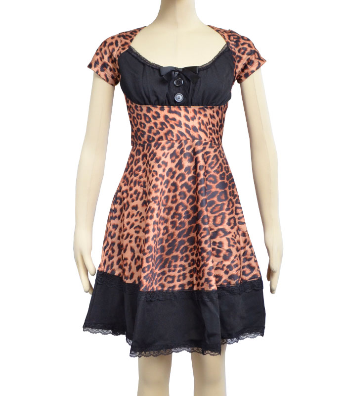 SEW WHAT DRESS LEOPARD/BLACK