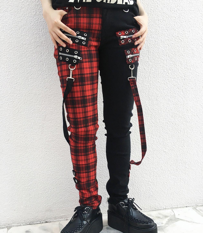 モデル身長162cm/着用サイズS/着用カラーRED CHECK/BLACK